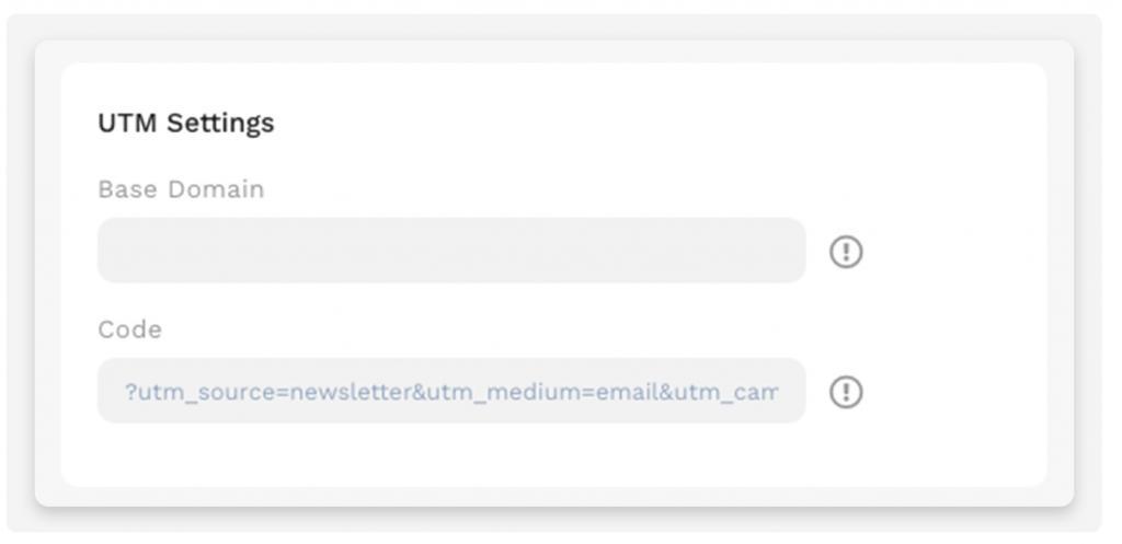 UTM settings in Mail Blaze!