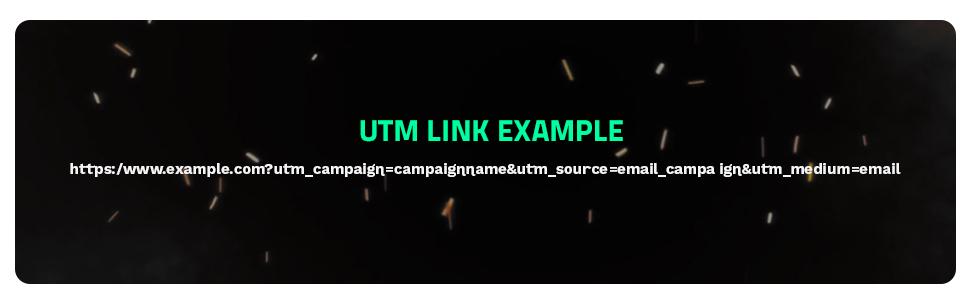 UTM Code example!