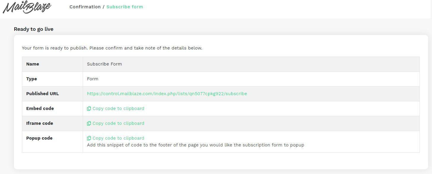 Publish Your Form
