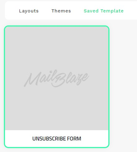 Unsubscribe Form Option