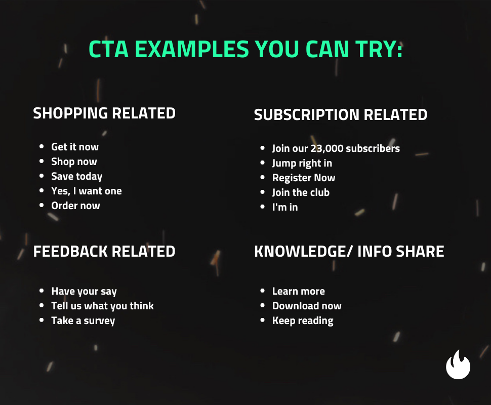 Mail Blaze CTA examples
