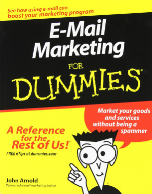 Email Marketing for dummies cover
